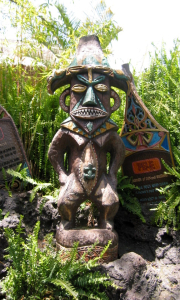 Pele tiki outside the Enchanted Tiki Room