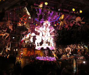 Grand finale at The Enchanted Tiki Room in Anaheim