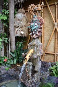Maui on the lanai at The Enchanted Tiki Room in Anaheim