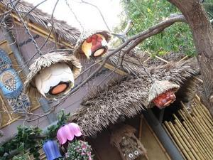 Lamps on the lanai at the Enchanted Tiki Room in Anaheim