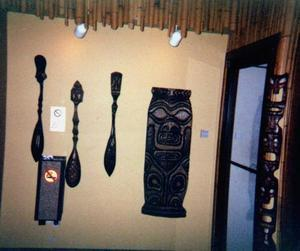 Carvings at the Tiki Lounge in Ludington