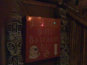 Sign for Barnacle Bill's Basement Bar at Tiki Lounge in Pittsburgh