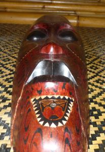 Wall mask at Tiki Lounge in Pittsburgh