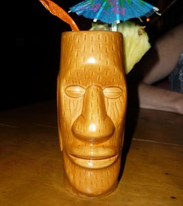 Drink in a tiki mug at Tiki Lounge in Pittsburgh