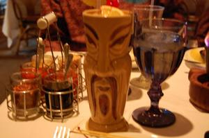 Navy Grog served in Fu Manchu mug at Pacific Restaurant in Sterling