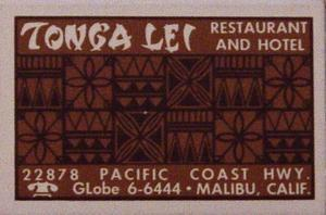 Matchbook from Tonga Lei