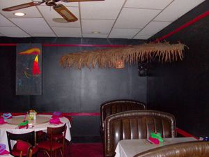 A corner of the dining room at Fiji Island in Roanoke