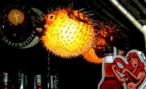 Pufferfish light at Purple Orchid Exotic Tiki Lounge in El Segundo