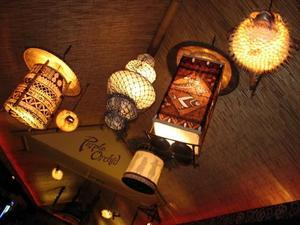 Lamps at the Purple Orchid
