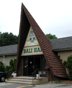 A-frame entrance to Bali Hai in Lynnfield