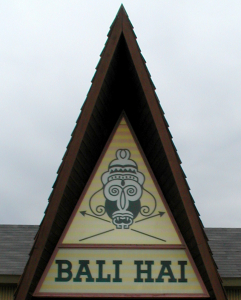 A-frame entrance at Bali Hai in Lynnfield