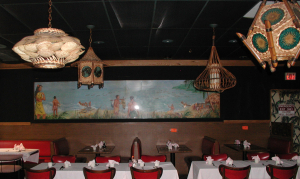 Interior with mural at Bali Hai in Lynnfield