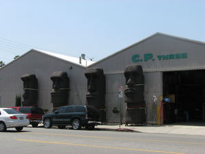 The front of C. P. Three Prop House in Los Angeles