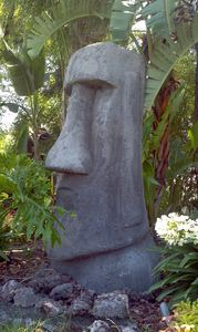 Moai at Mission Tiki Drive-In in Montclair