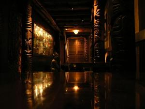 View down the hall at Trader Vic's in Emeryville