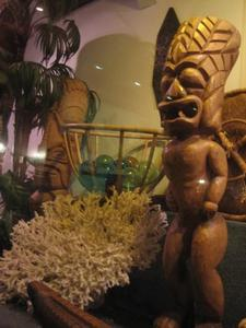 Decor on display at Trader Vic's in Emeryville