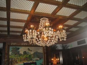 Shell chandelier at Trader Vic's in Emeryville