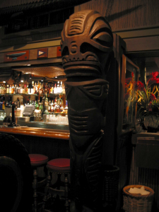 Tiki in the bar at the Emeryville Trader Vics