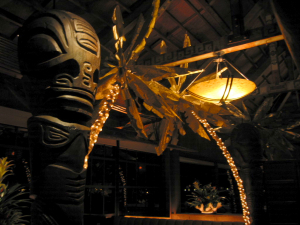 One of the dining rooms at the Emeryville Trader Vic's