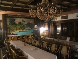 Banquet room at Trader Vic's in Emeryville