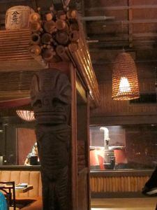 Tiki and Chinese ovens at Trader Vic's in Emeryville
