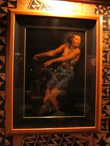 Original Leeteg painting in the bar at Trader Vic's in Emeryville