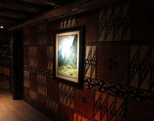 The tapa-lined main hallway at Trader Vic's in Emeryville