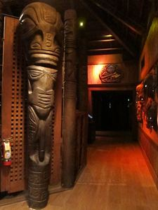 The back hallway at Trader Vic's in Emeryville