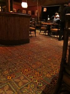 Carpet in the dining room at Trader Vic's in Emeryville