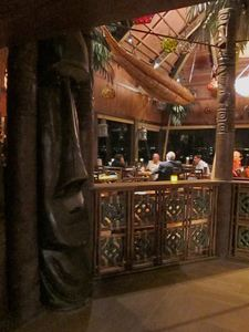 The dining room at Trader Vic's in Emeryville