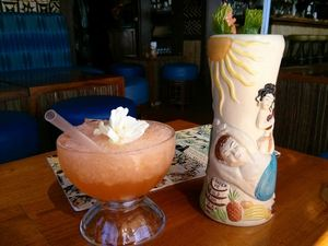 Drinks at Trader Vic's in Emeryville