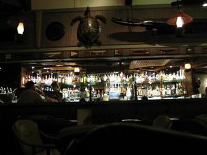 The bar at Trader Vic's in Emeryville