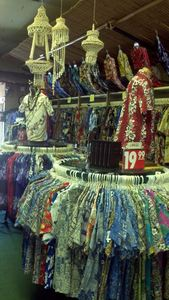 Lots of aloha shirts at Exotical Hawaiian Apparel in Downey
