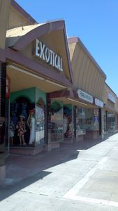 Entrance to Exotical Hawaiian Apparel in Downey