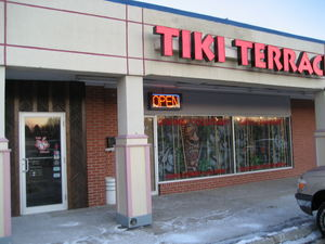 Front of the Tiki Terrace in Prospect Heights