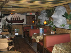Dining area at the Tiki Terrace in Prospect Heights