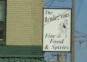 Sign for The Rendez'vous at The Rendez'vous in Kenosha