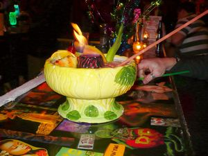 Flaming Specialty Bowl at The Rendez'vous in Kenosha