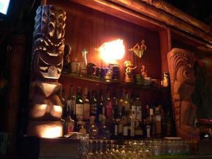 Behind the bar at Kona Club in Oakland