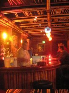 The bar at Kona Club in Oakland
