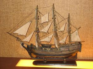 One of several model ships in the dining area at Trader Vic's in Bellevue