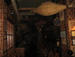 Towards the bar at Trader Vic's in Bellevue