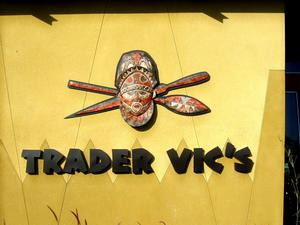 Logo at west entrance to Trader Vic's in Scottsdale
