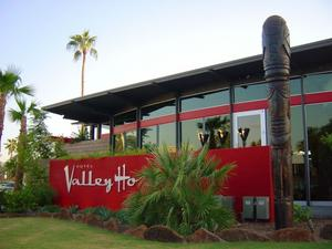 Tiki on northeast side of Trader Vic's in Scottsdale
