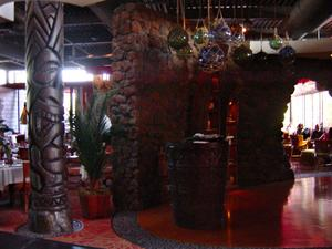 Entrance waiting area at Trader Vic's in Scottsdale