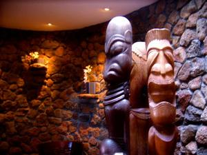Three tikis at Trader Vic's in Scottsdale