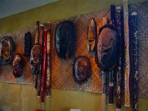 Mask display at Trader Vic's in Scottsdale