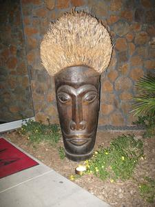 Tiki at entrance to Trader Vic's in Scottsdale