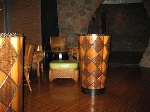 Drum cocktail tables at Trader Vic's in Scottsdale