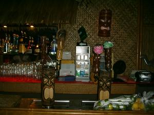 Behind the bar at Puka Bar in Long Beach